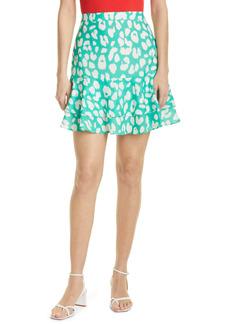 Milly Milan Leopard Print Skirt