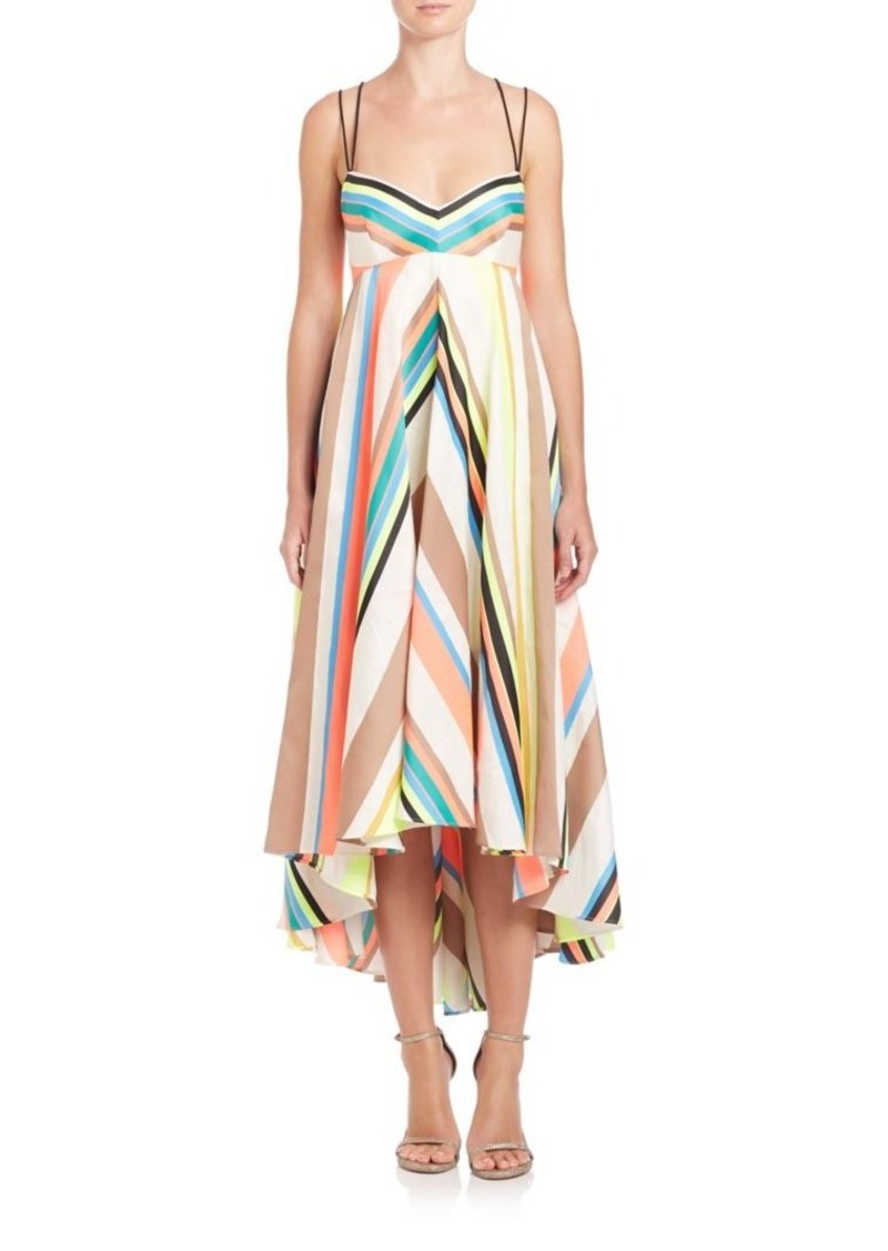 MILLY Mitered Trapeze Dress