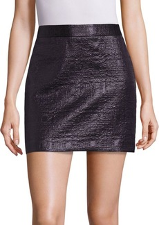 Milly Mod Metallic Jacquard Skirt