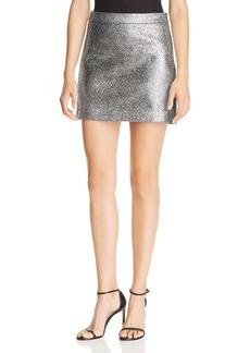 MILLY Modern Metallic Mini Skirt