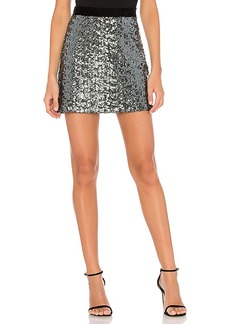 MILLY Modern Sea Glass Sequin Skirt