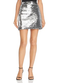 MILLY Modern Sequined Mini Skirt