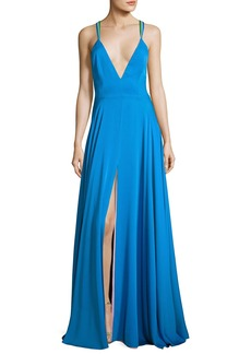 Milly Monroe Strappy Stretch Silk Gown