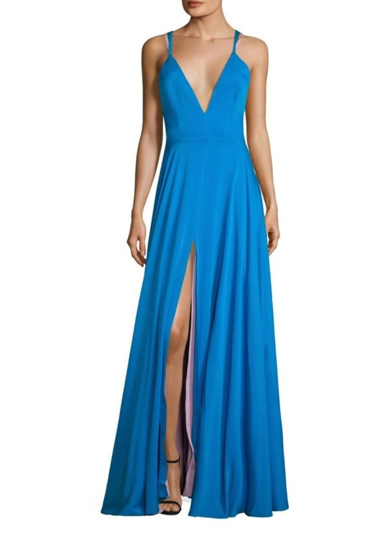 Milly MILLY Monroe Stretch-Silk Gown | Dresses