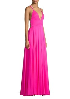 Milly Monroe V-Neck Gown