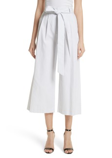 Milly Natalie Crop Tie Waist Pants
