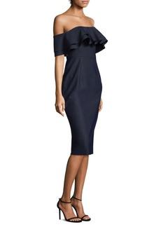Milly Natalie Off-The-Shoulder Midi Dress