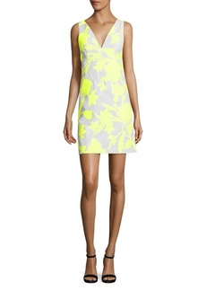 Milly Neon Floral Jacquard Mini Dress