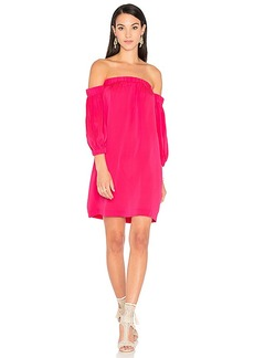 MILLY Off Shoulder Dress in Pink. - size M (also in S,XS)