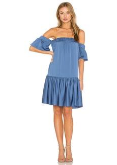 MILLY Off the Shoulder Flutter Dress