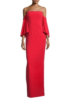 Milly Off-the-Shoulder Ponte Gown
