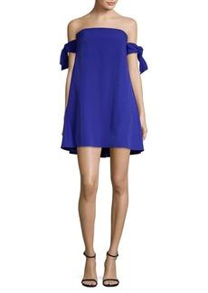 Milly Off-The-Shoulder Shift Dress