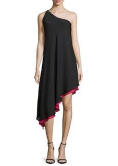 Milly Olivia One-Shoulder Asymmetric Dress