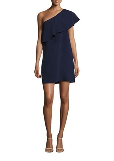 MILLY One-Shoulder Flounce Dress