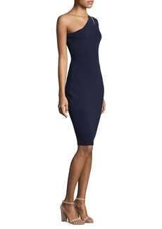 Milly One-Shoulder Sheath Dress