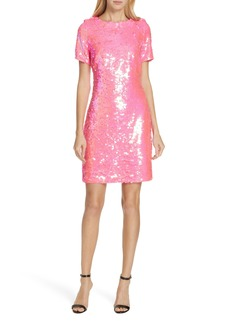 Milly Paillette T-Shirt Dress