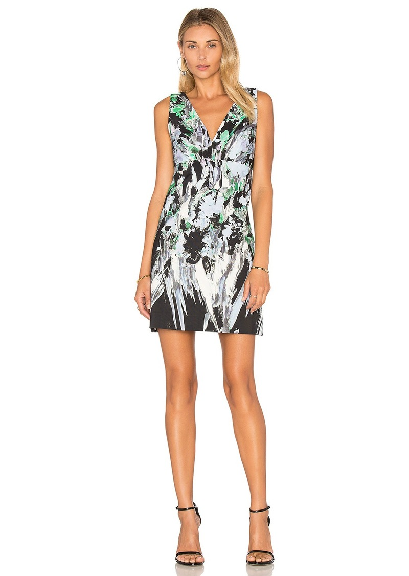 MILLY Painted Floral Mini Dress