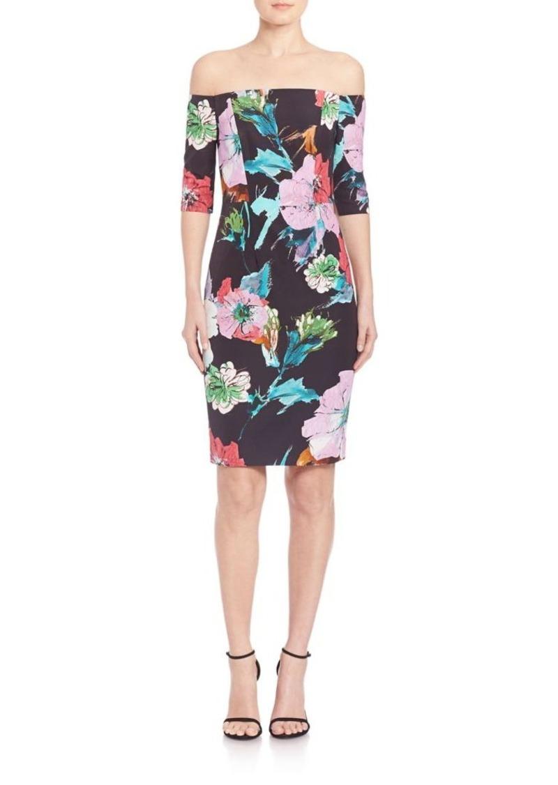 MILLY Paper Floral Off-The-Shoulder Dress