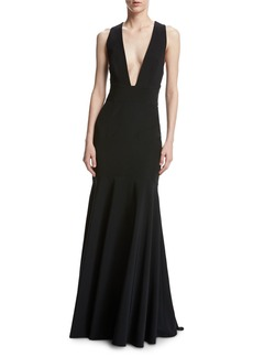 Milly Penelope Sleeveless Stretch Jersey Mermaid Gown