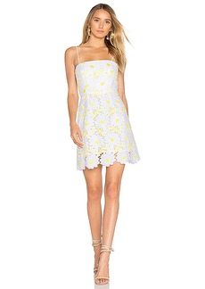 MILLY Petal Lace Dress in Yellow. - size 6 (also in 2,4,8)
