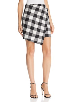MILLY Plaid Wrap Skirt