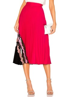 MILLY Pleat Maxi Skirt