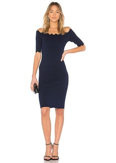 Cut Out Flounce Fitted Sheath in Black. - size S (also in L,M,XS) Milly