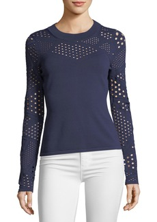 Milly Pointelle-Inset Fracture Top