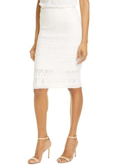 Milly Pointelle Knit Skirt