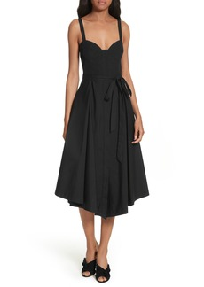 Milly Poplin Bustier Midi Dress