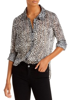 MILLY Printed Button Up Shirt