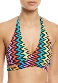 Milly Printed Halter Bikini Swim Top