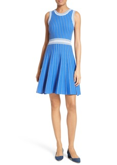 Milly Ribbed Knit Fit & Flare Dress