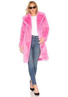 MILLY Riley Long Faux Fur Coat