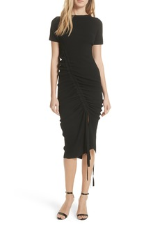 Milly Ruched Midi Dress