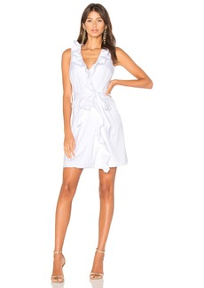 MILLY Ruffle Front Dress