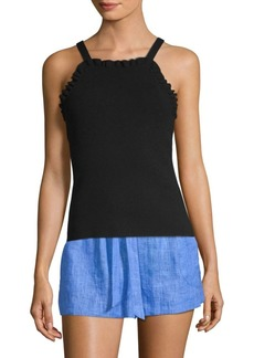 Milly Ruffle Knit Tank