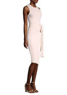 Milly Ruffle Tie Wrap Dress