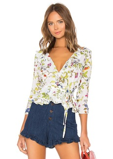 MILLY Ruffle Wrap Top