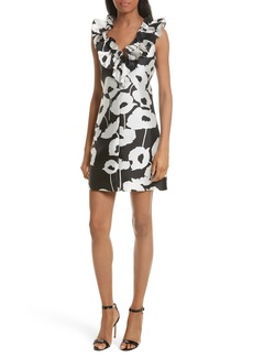Milly Sadie Ruffle Poppy Print Dress