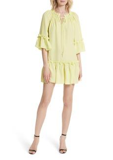 Milly Santorini Ruffle Mini Dress