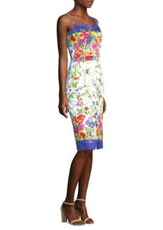 Milly Satin Floral Dress