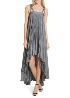 Milly Sawyer High/Low Linen Blend Dress