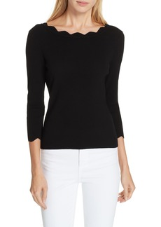 Milly Scallop Neck Sweater