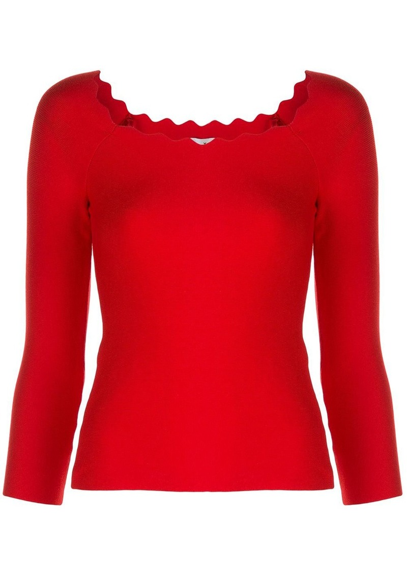 Milly scalloped neck jumper