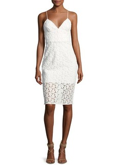 Milly Scarlett Floral Embroidered Cocktail Dress