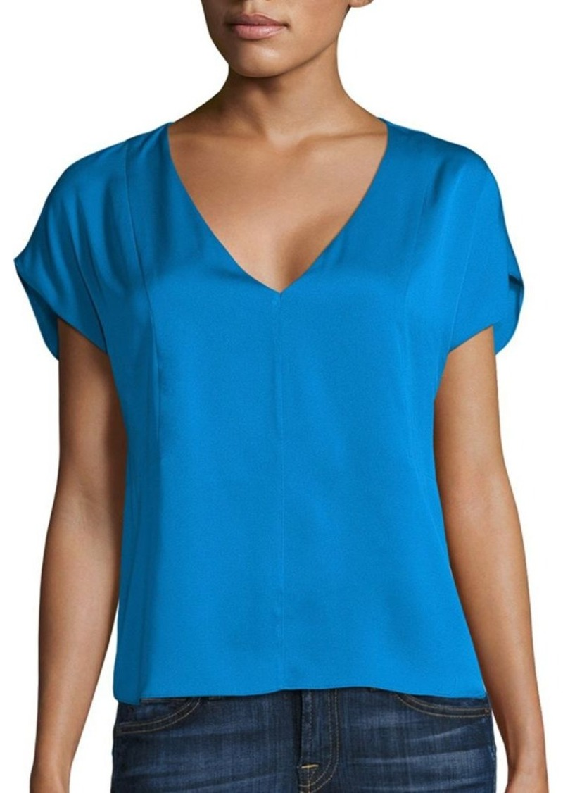 MILLY Seamed Dolman Sleeve Top