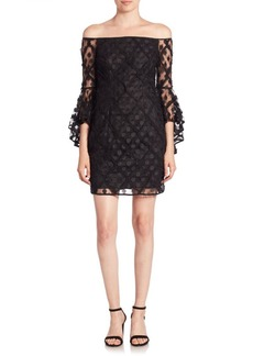 MILLY Selena Embroidered Lace Mini Dress