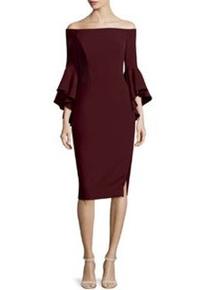 Milly Selena Off-The-Shoulder Sheath Dress