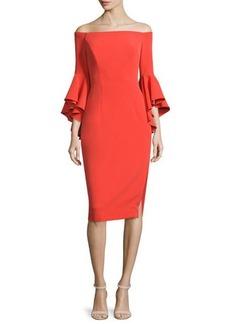 Milly Selena Off-The-Shoulder Sheath Dress